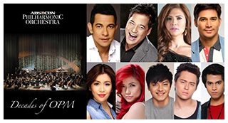 Gary, Martin, Angeline and other OPM stars unite for ABS-CBN Philharmonic Orchestra's debut album 'Decades of OPM'
