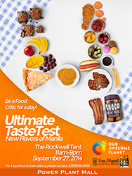 Ultimate Taste Test on September 27