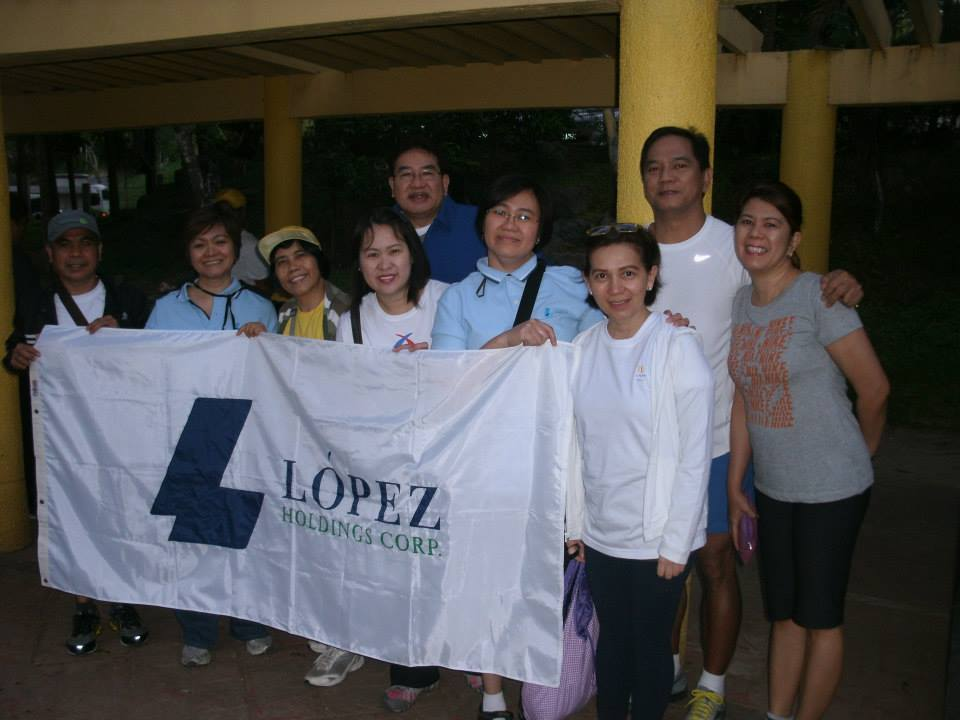 Lopez Holdings president Salvador G. Tirona and the LHC team arrive early for the walk