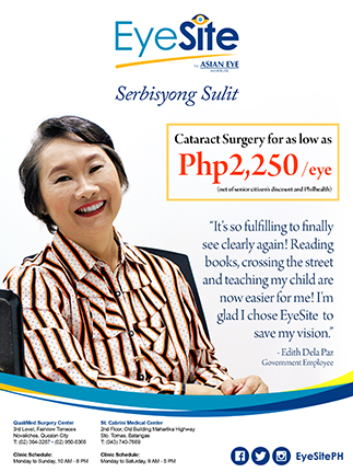 EyeSite offers affordable, quality cataract surgery