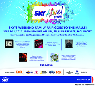 SKY Alive! To go on tour beginning Sept 9, in SM Aura