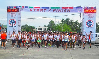 At the starting line of the One Kapamilya Run in Isabela