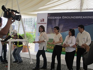 The groundbreaking ceremony in 2013
