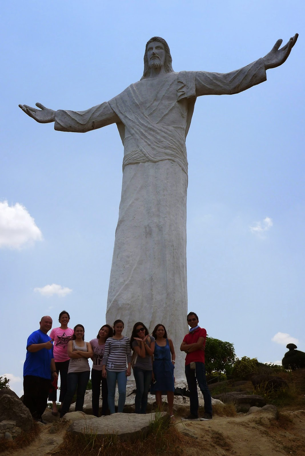 The 30-foot statue of the Risen Christ watches over visitors to Monasterio de Tarlac