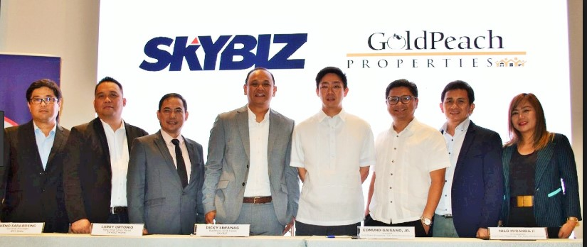 The SKYBIZ team with client Goldpeach Properties Cebu