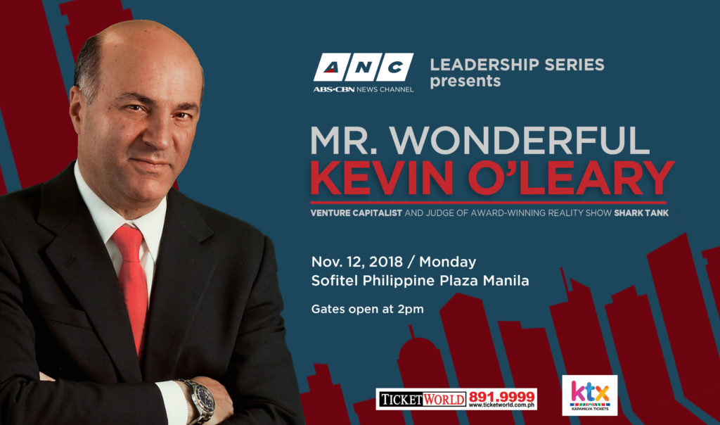 ANC brings billionaire investor Kevin O'Leary to Manila