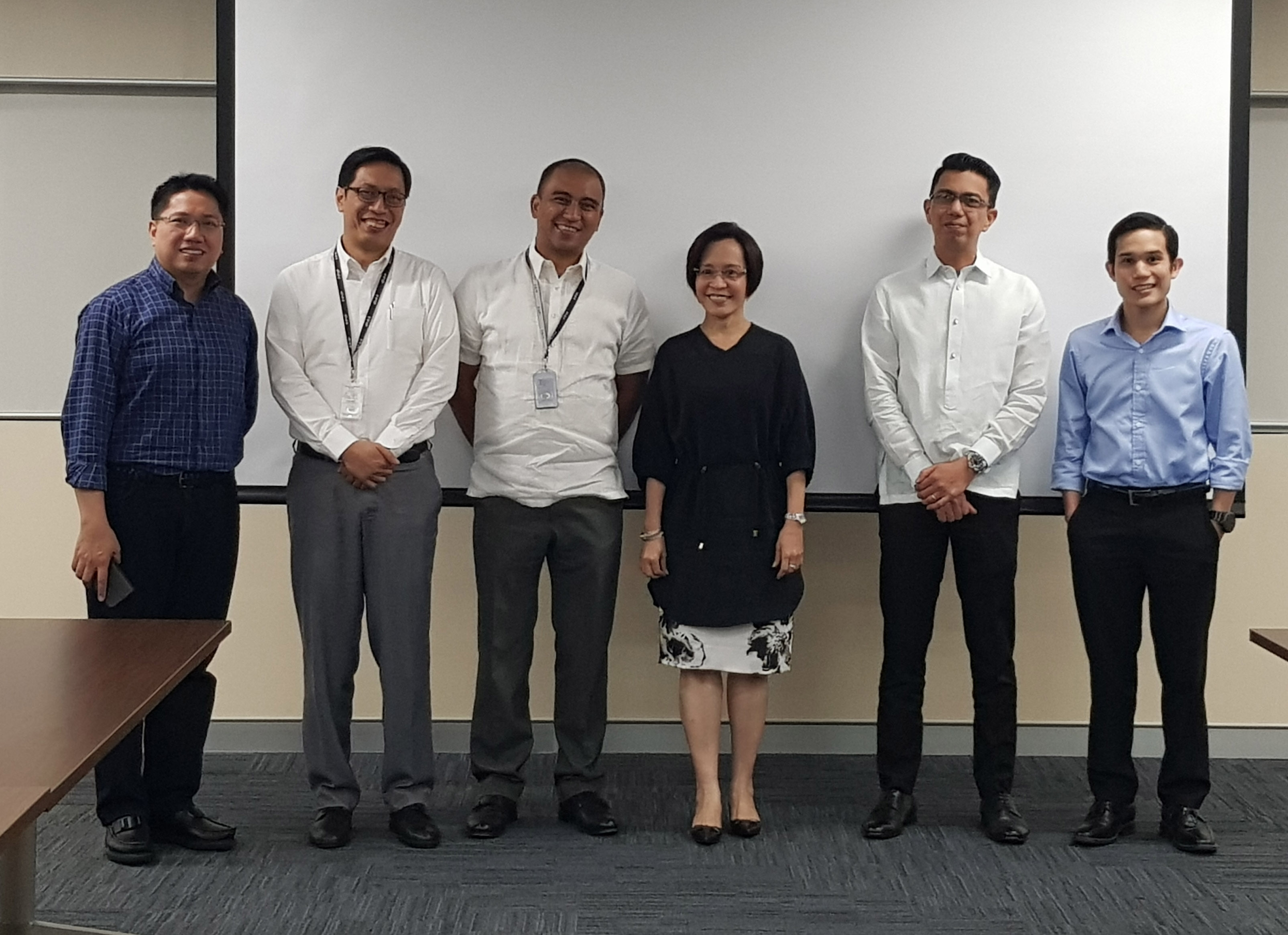 Dan Lopez Layug, CFA (rightmost) with the other members of the screening committee for Business Management and HR Focus