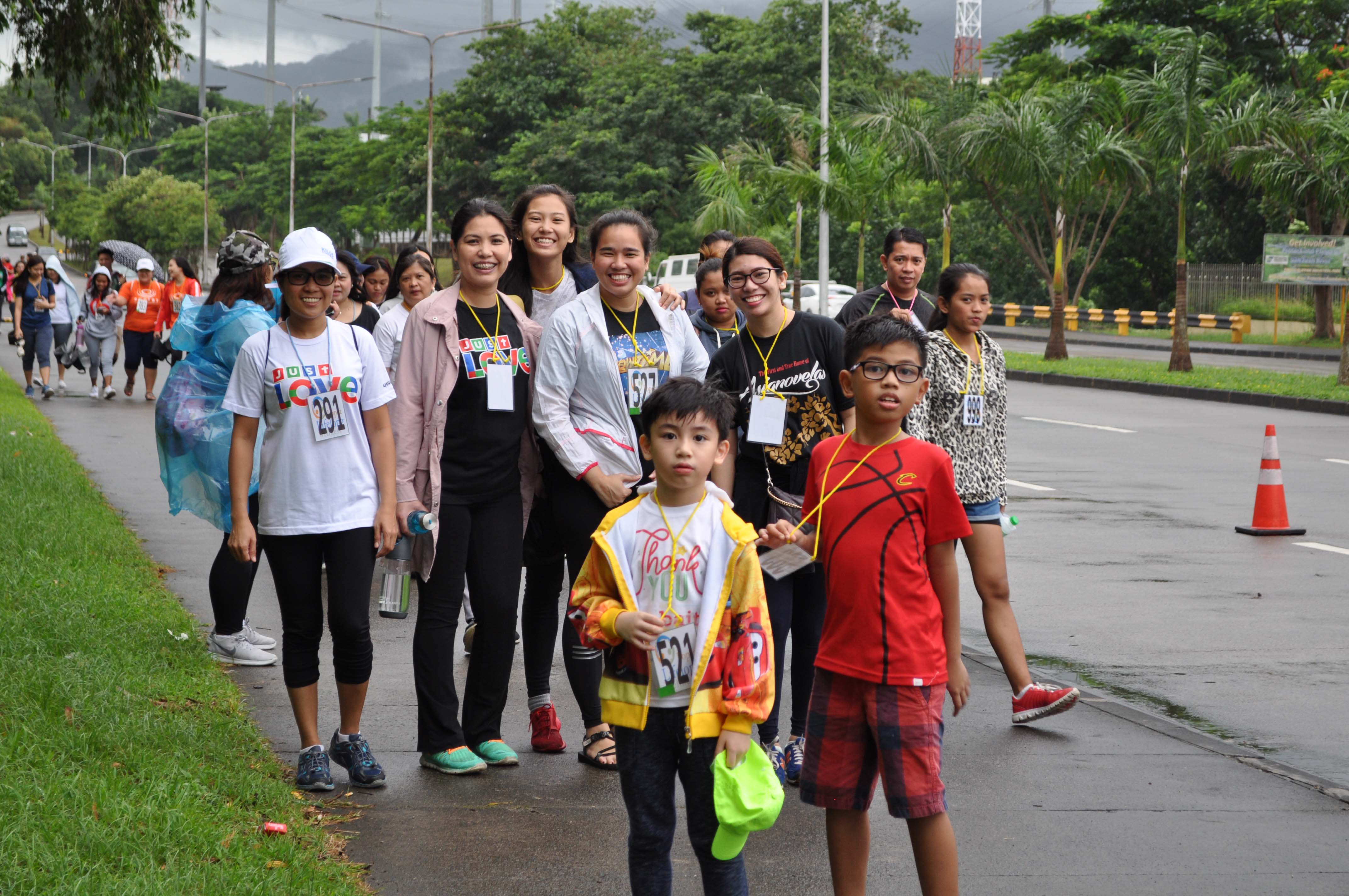Young walkers take the lead