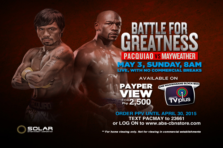 Battle for Greatness available via PPV on ABS-CBN TVplus
