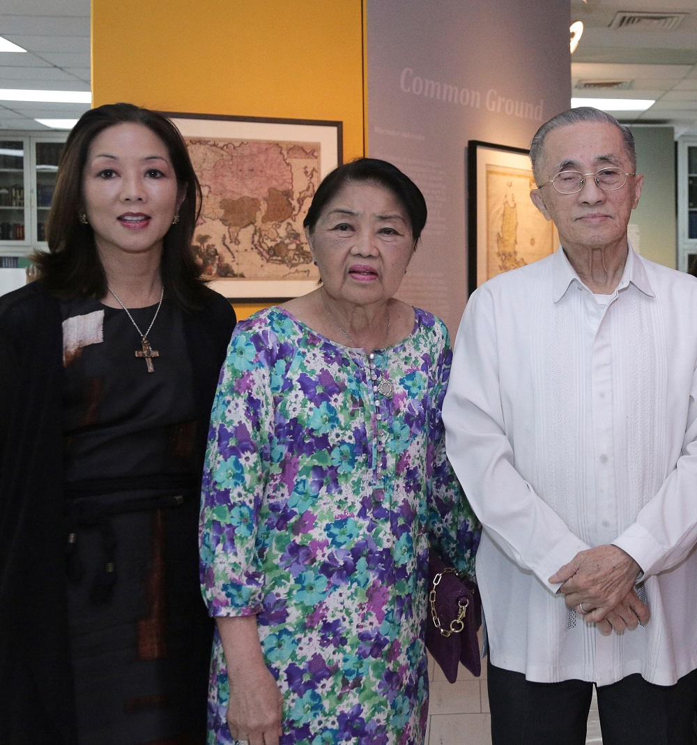 Lopez Group chairman emeritus Oscar M. Lopez, Connie Lopez and museum executive director Cedie Lopez Vargas