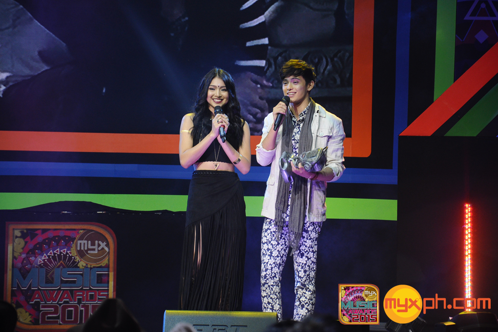 James Reid and Nadine Lustre at the MYX Music Awards 2015