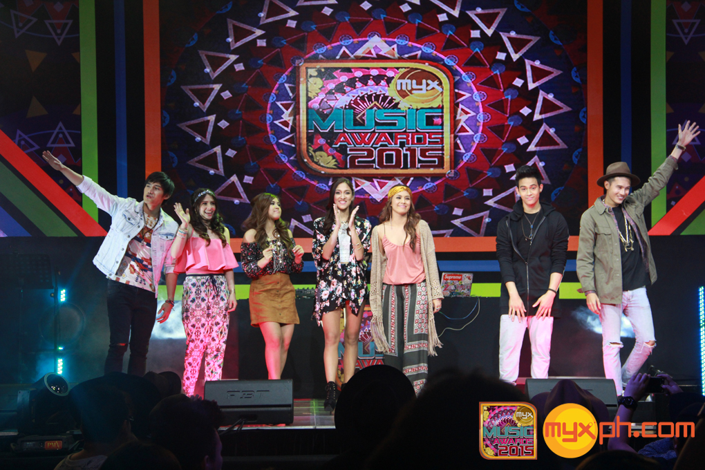 MYX VJs at the MYX Music Awards 2015