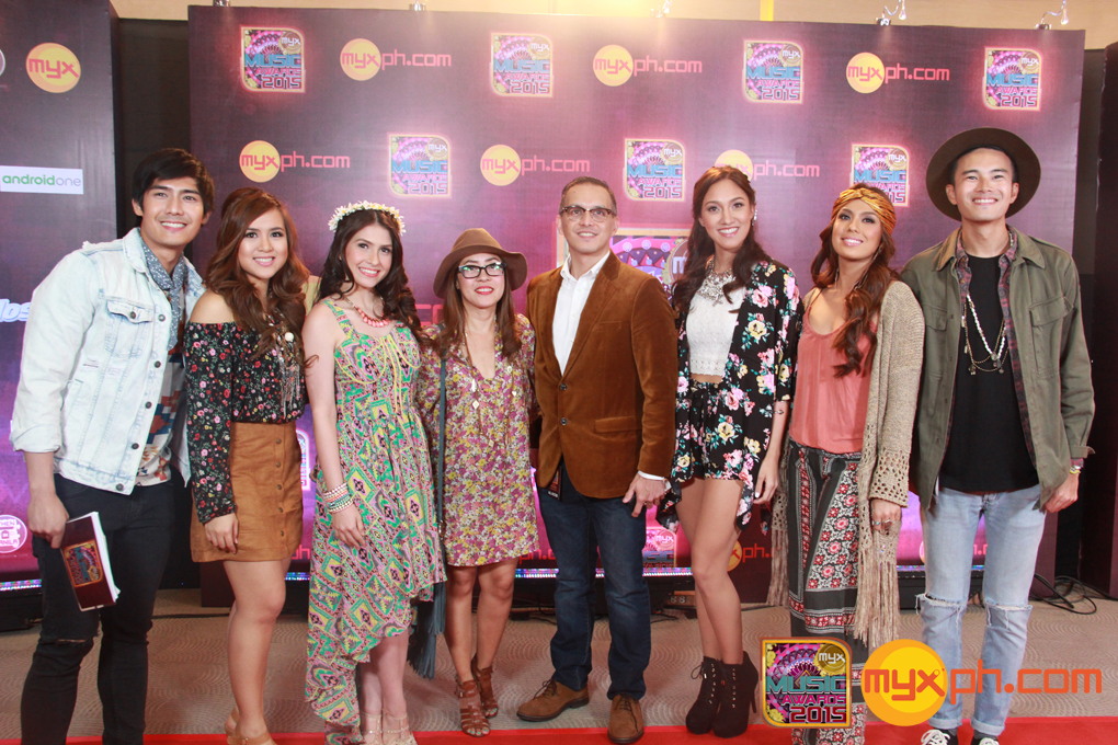 MYX VJs together with MYX channel head Andre Allan Alvarez