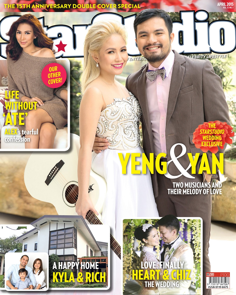 Alex Gonzaga and newlywed Yeng and Yan on the cover of StarStudio Magazine!