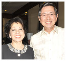 Amb. Manuel M. Lopez and wife Maritess Lopez