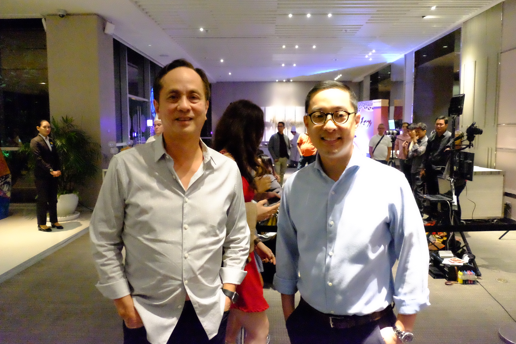 ABS-CBN chairman Eugenio Lopez III and president Carlo L. Katigbak