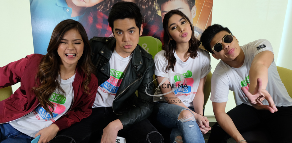 "The young leads of ""Vince and Kath and James"""