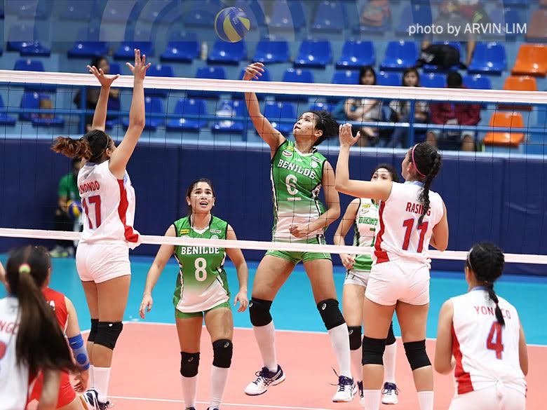 Jeanette Panaga (6) is the NCAA's leading scorer this season and has been named as Best Blocker twice already with a Finals MVP for Season 91 to boot.