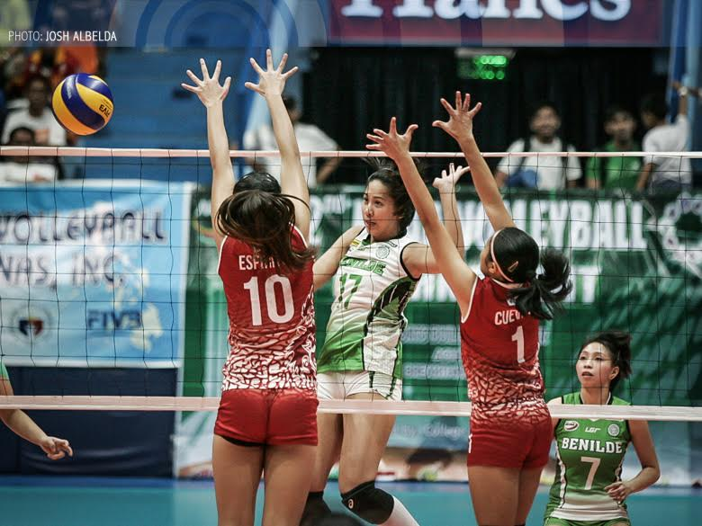 Sophomore middle Ranya Musa has provided College of St. Benilde the solid support it needs for their star, Jeanette Panaga.