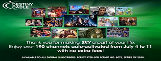 SKY opens over 190 channels as a 25th Anniversary offer