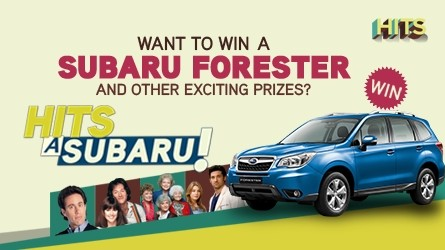 Get a chance to win a subaru forester when you watch hits on sky!