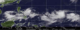 OML Center WEATHER UPDATE #03 Tropical Depression EGAY and  Strong Tropical Storm Chan-Hom