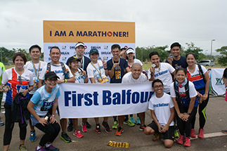 First Balfour marathoners and pacers