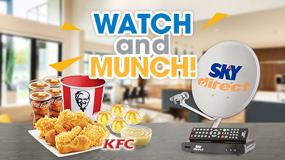 Subscribe​ to​ SKYdirect​ and​ get​ a ​free ​KFC​ bucket​meal!