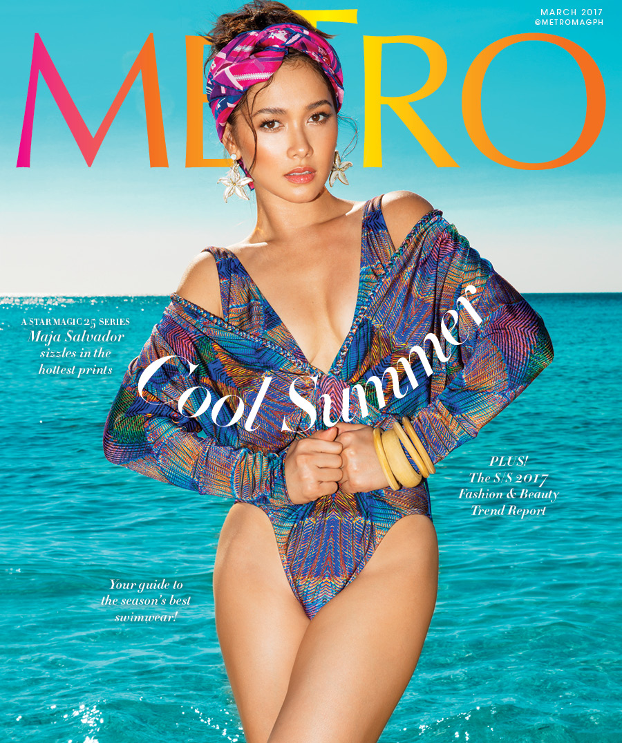 Maja swags it up in 'Metro' Summer Issue