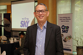 SKY Cable Corporation COO March Ventosa during the One SKY press conference in October 2016