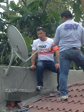 SKYdirect installation in Tagum, Davao