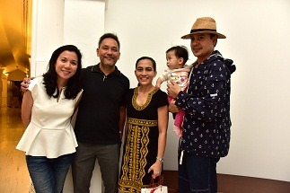Beng and Juan Alcazaren with Elaine Navas and actor John Lloyd Cruz with Leon Alcazaren