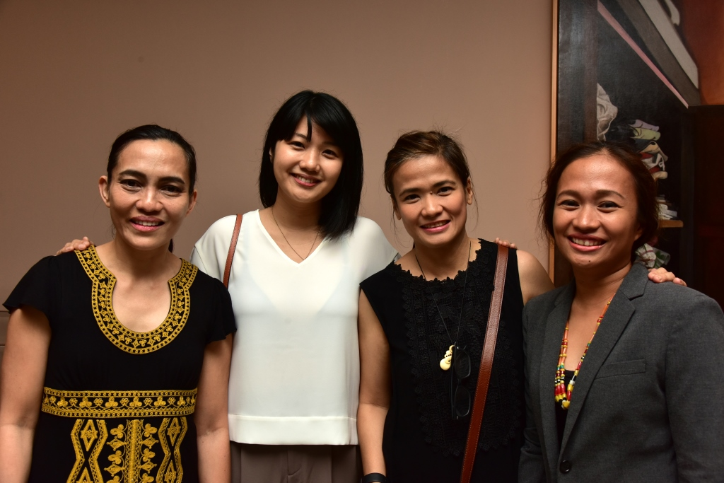 Featured artists Elaine Navas, Kara de Dios, Pam Yan Santos and Marina Cruz