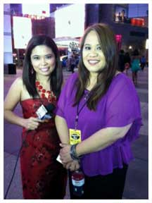 ABS-CBN correspondent Yong Chavez with Jessica Sanchez mom Edita (photo taken from Yong Chavez)