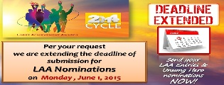 Deadline extended to June 1 for LAA entries and Unsung Hero nominations!
