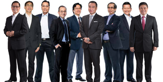 Chief Risk Officer Bernard Lapuz, VP for LatAm Arman Lapus, SVP Manny Ogena, VP Erwin Avante, VP and CIO Ferdi Poblete, corporate affairs head Ricky Carandang, Health, Environment and Safety group head Biboy Tan, Security head Admiral Toto Golez, and business development head Ray Jarque