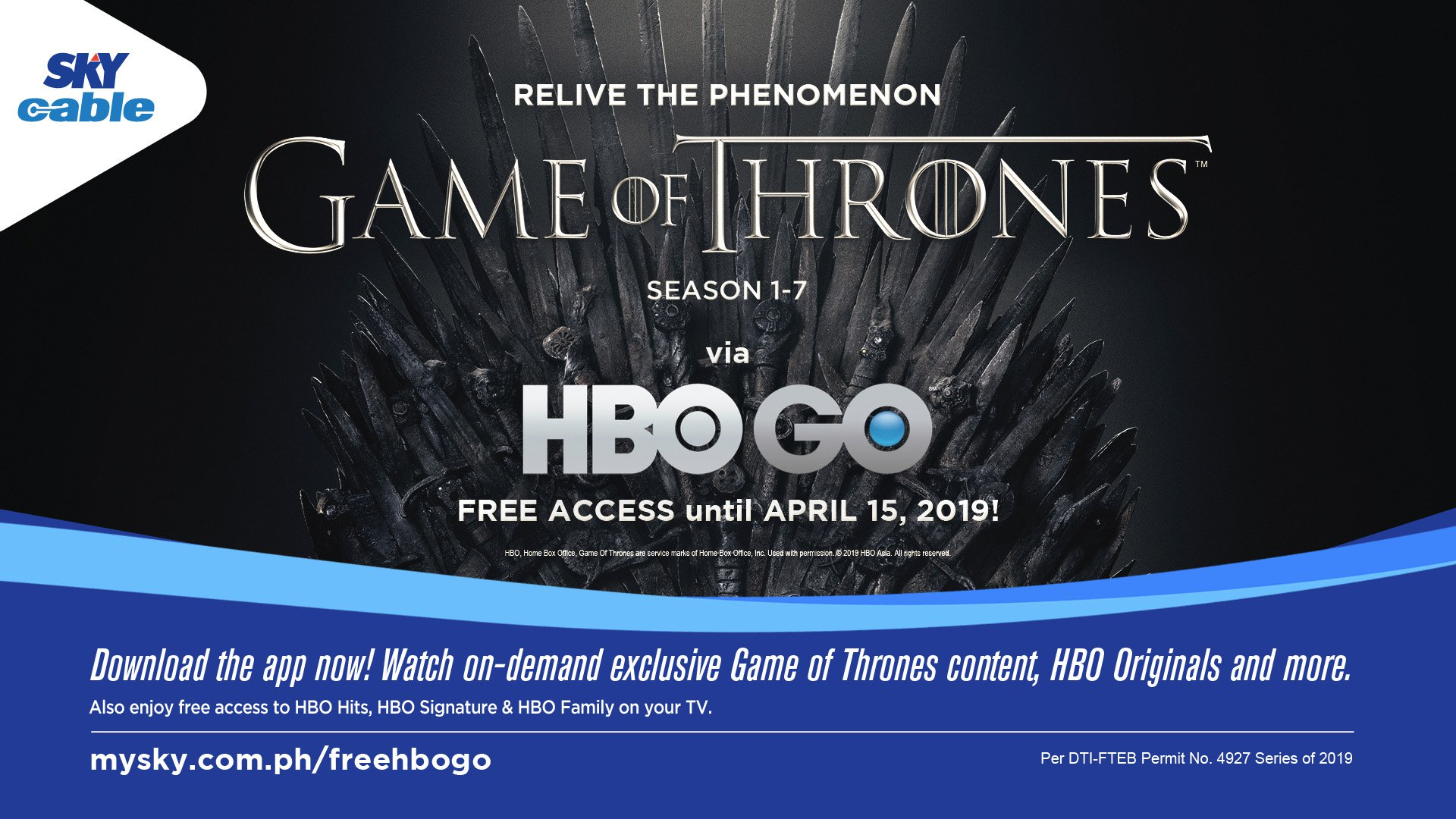 Catch up on 'Game of Thrones' via HBO GO on SKY