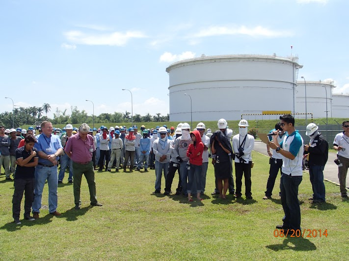 First Gas conducts an earthquake drill at its Sta. Rita and San Lorenzo plants in Batangas