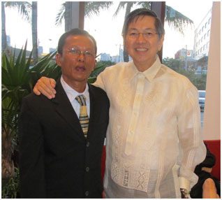Lopez Holdings Messenger Bactol with Amb. Manuel Lopez