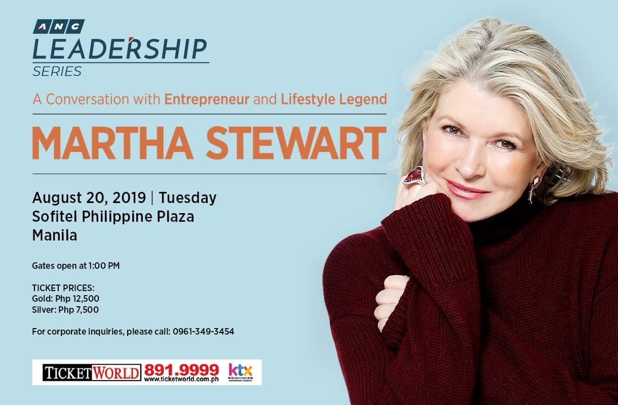 Martha Stewart comes to Manila for ANC series