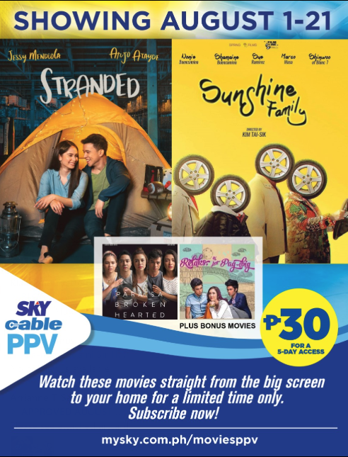 'Sunshine Family,' 'Stranded' premiere on SKY Pay-Per-View