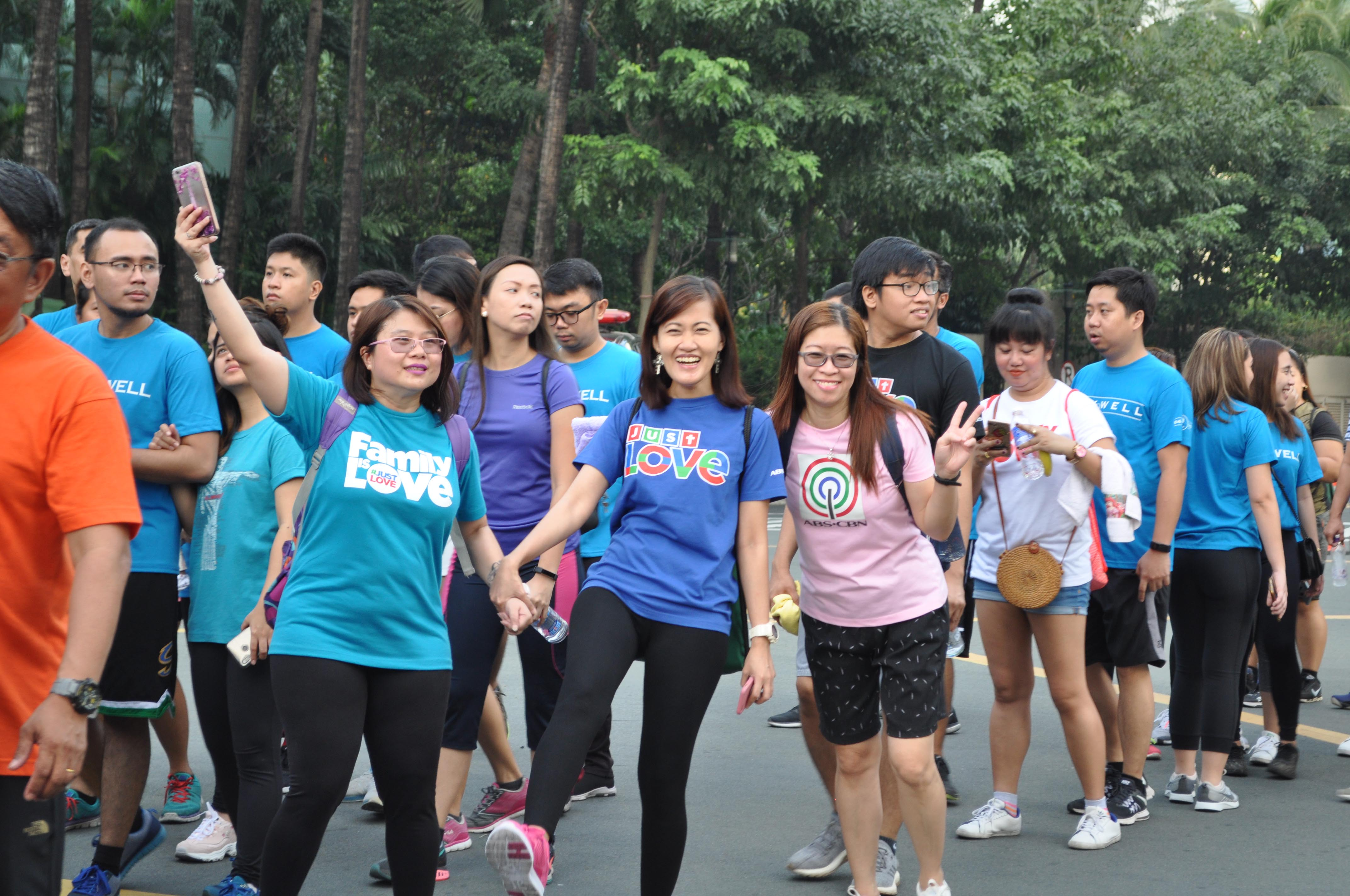 'Family is love' for these Kapamilya walkers