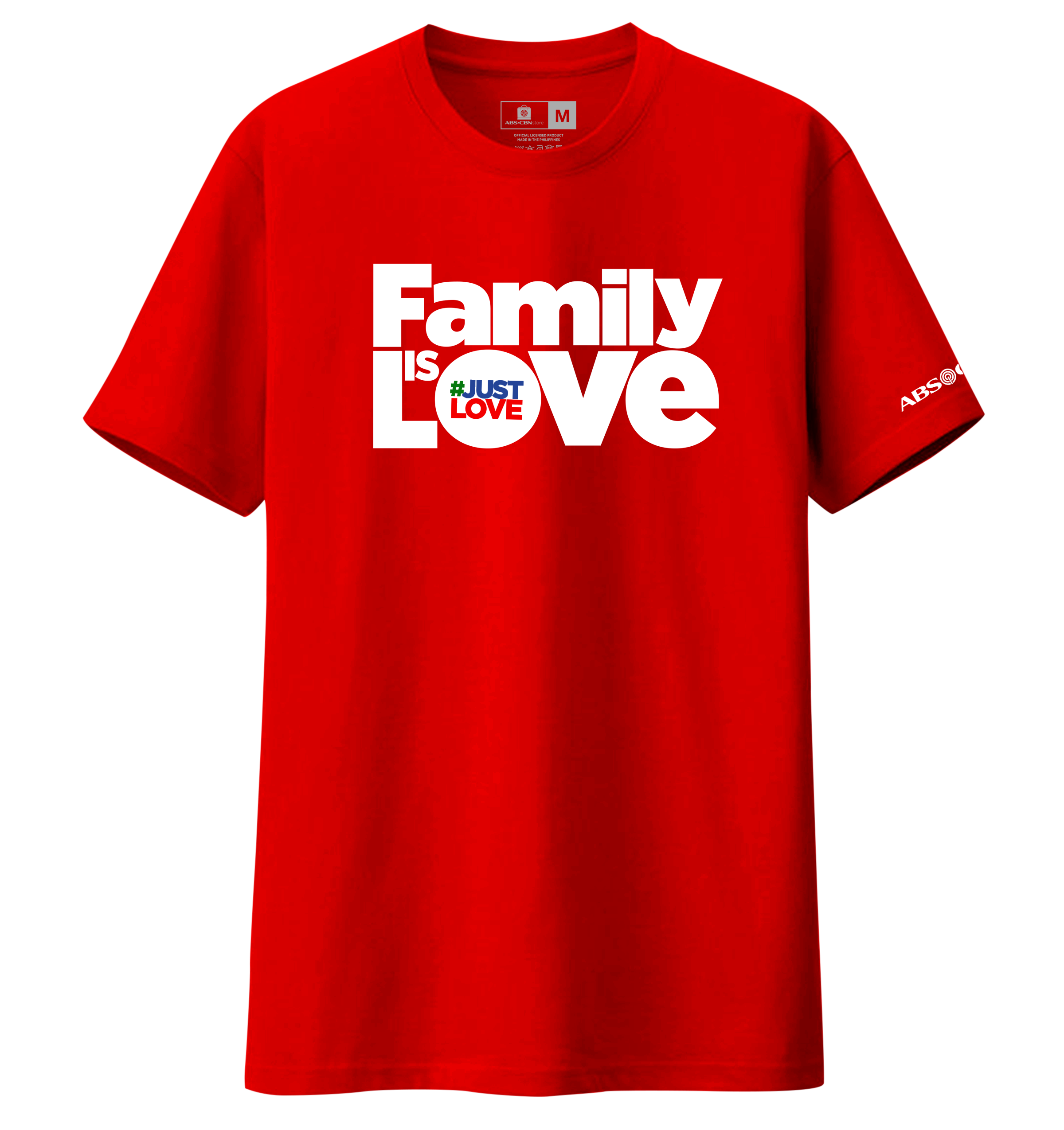 Family is Love Christmas Shirt - Red