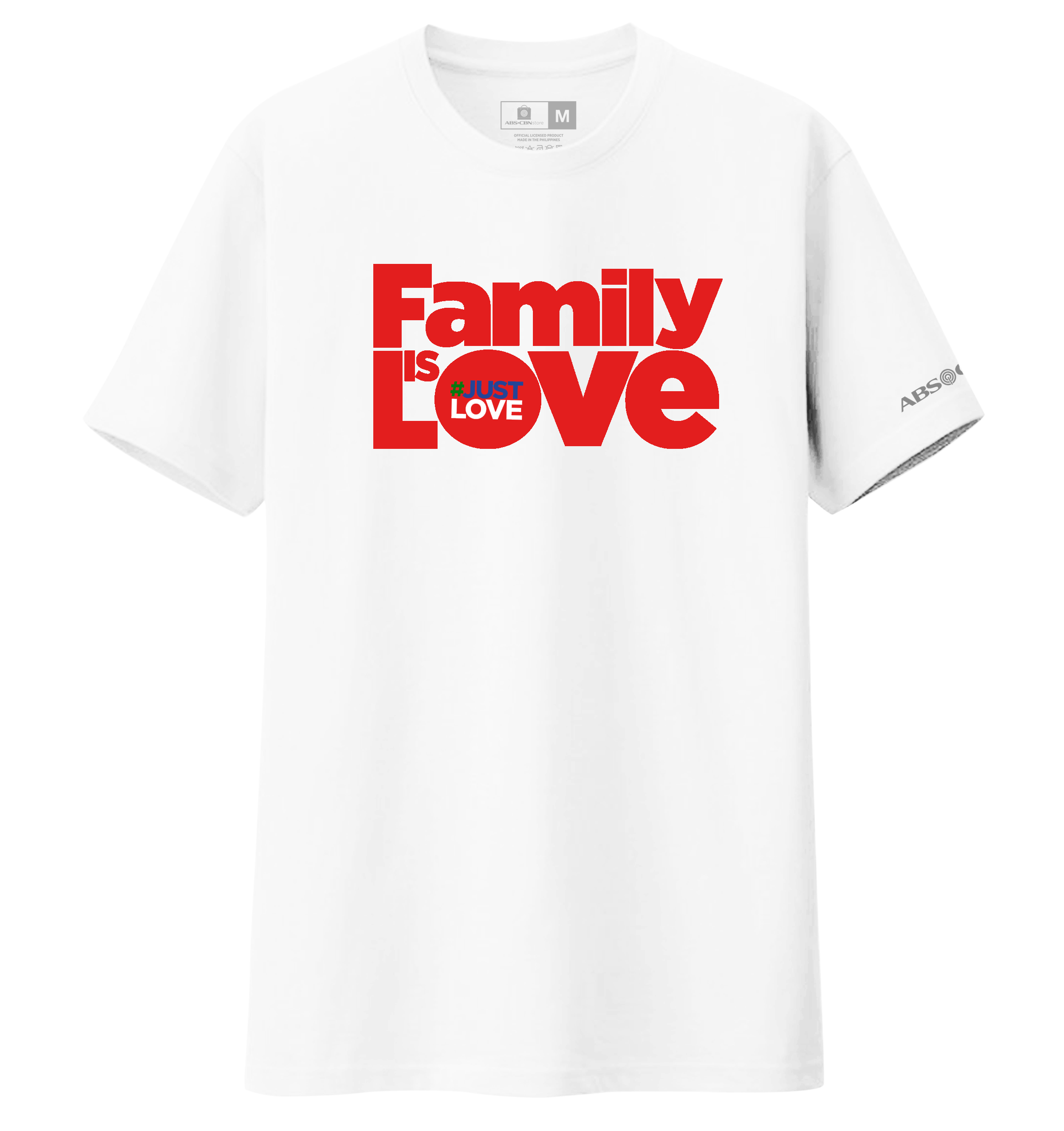 Family is Love Christmas Shirt - White Red