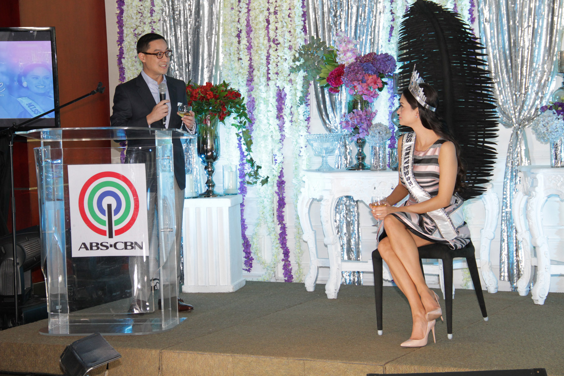 Miss Universe 2015 Pia Alonzo Wurtzbach in an intimate brunch with ABS-CBN executives during her recent Kapamilya homecoming