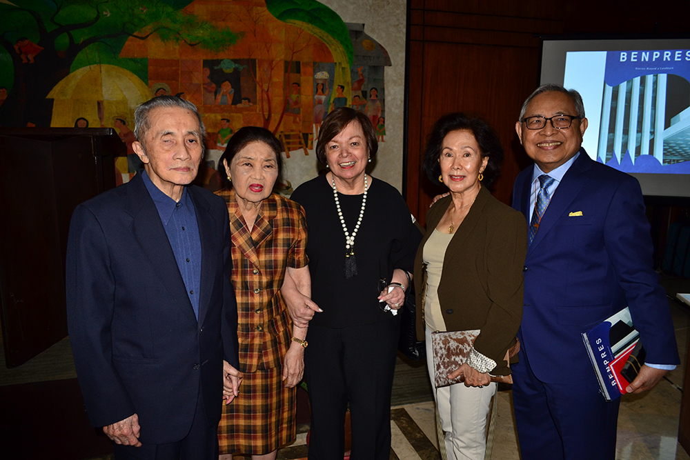 Lopez Group chairman emeritus Oscar M. Lopez, Connie Lopez, Mitos Santisteban, Zeny Tañada and Santi Dumlao