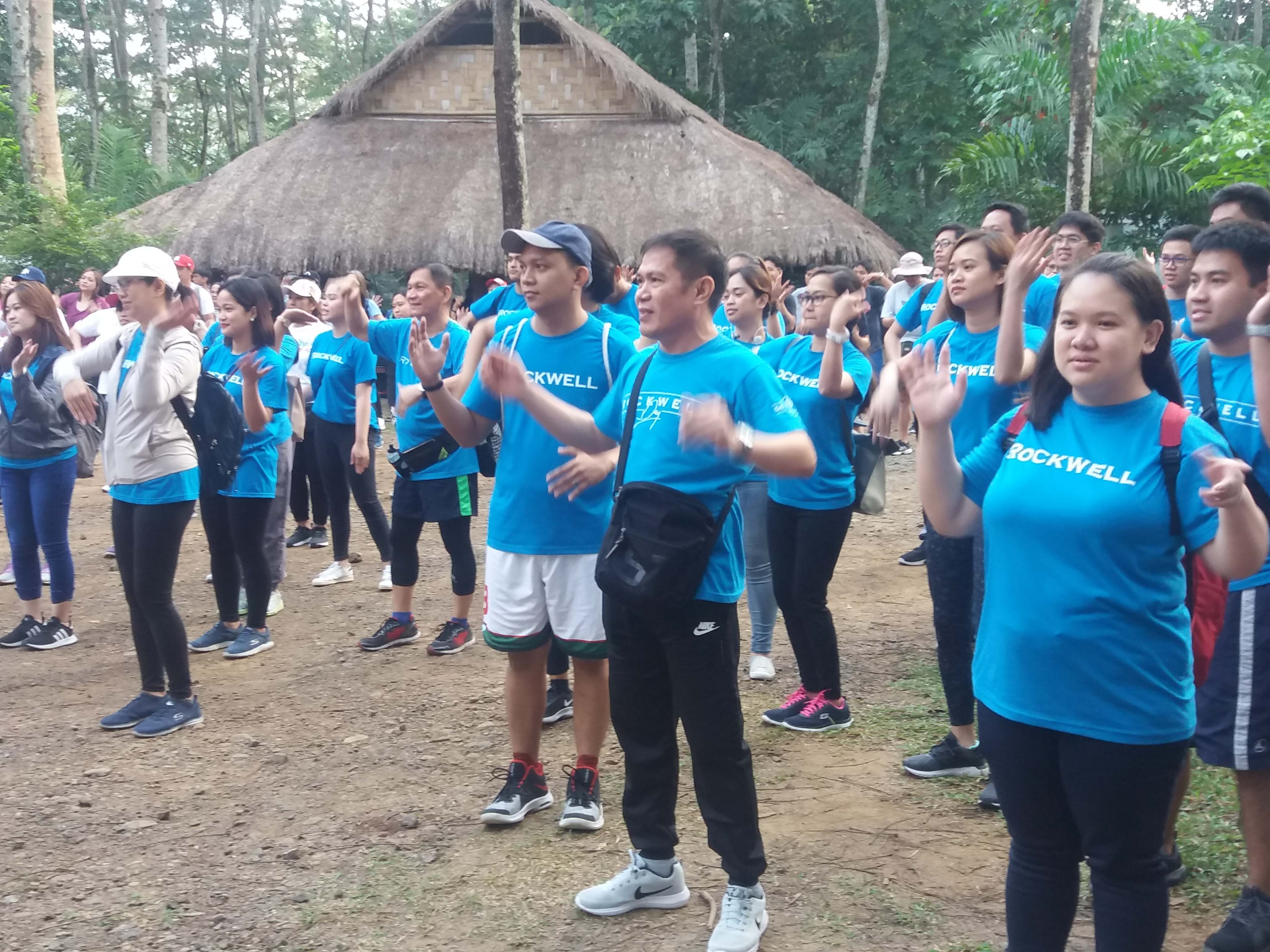 Scenes from the year's first Walk the Talk held at La Mesa Watershed in Quezon City