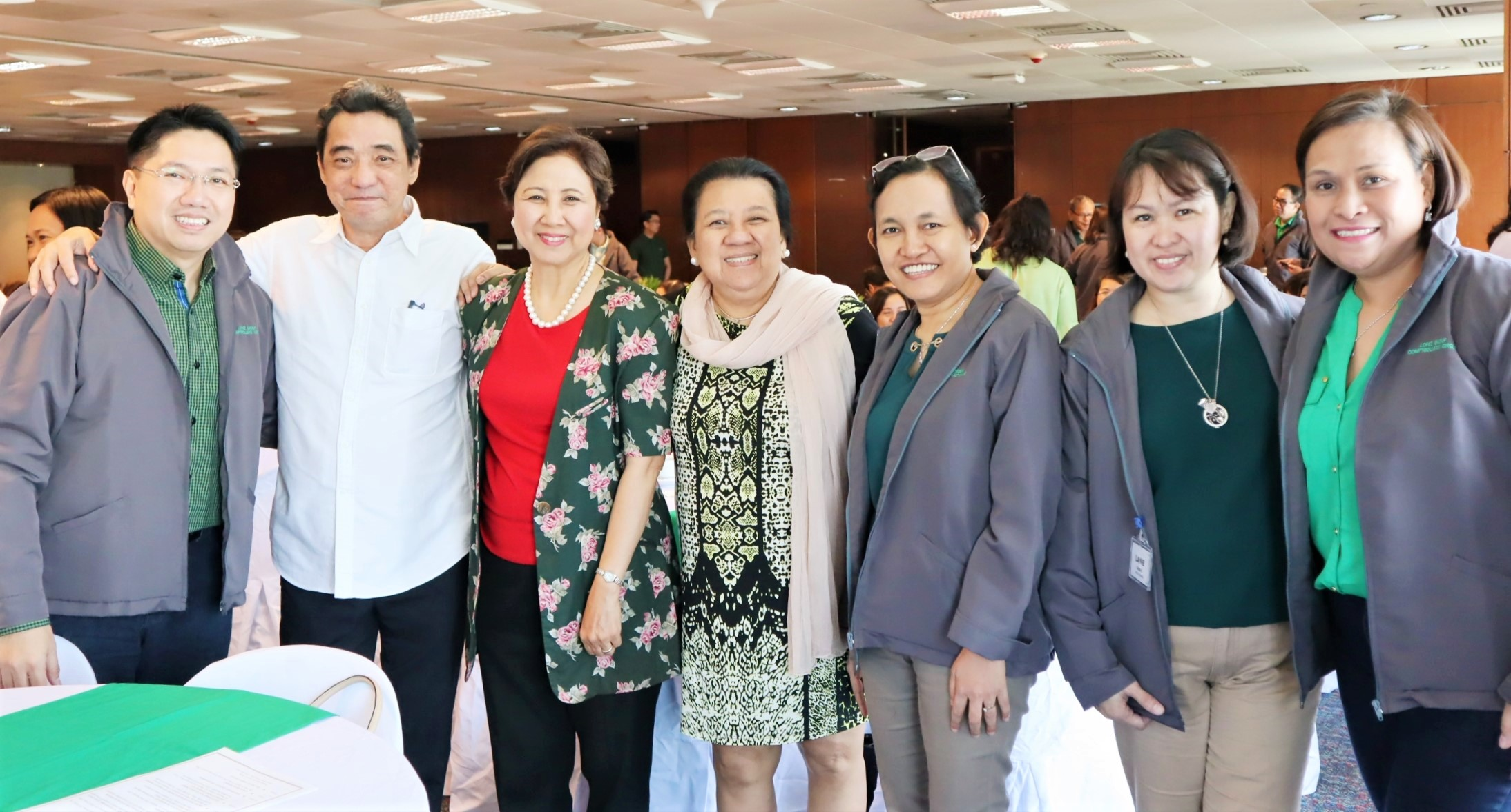 With former Lopez Group comptrollers Pearl Catahan and Ramon Pagdagdagan and former executive officer Marvi Marcelino