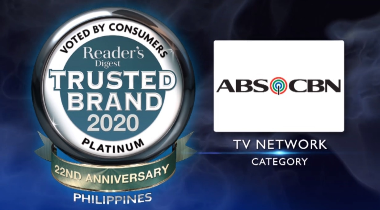 ABS-CBN clinches 5th Platinum award from Reader's Digest