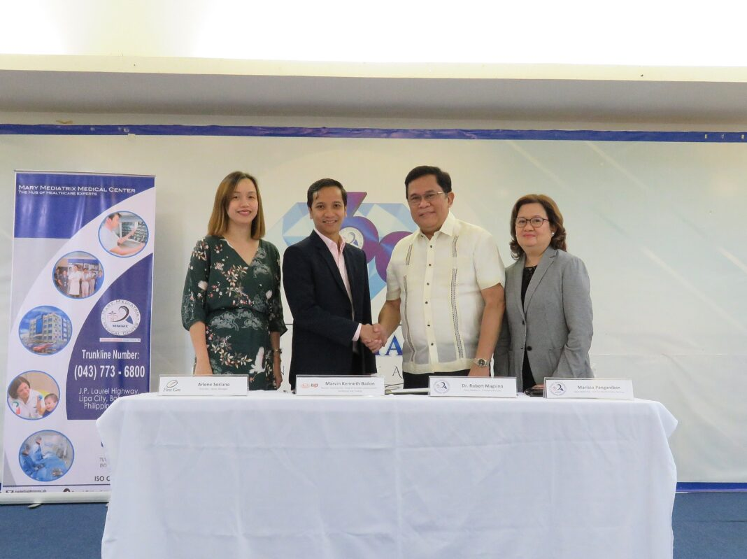 L-R: First Gen power marketing senior manager Arlene Sy, EDC head of business development, marketing, and trading Marvin Kenneth Bailon, MMMC president Dr. Robert Magsino and SVP Marissa Panganiban